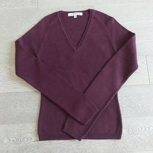 2/$30 RW&CO. Burgundy V-neck Knit Sweater